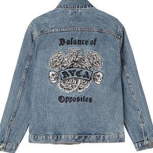 RVCA balance of opposites denim jacket size large